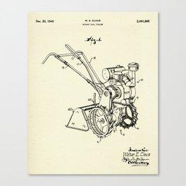 Rotary Soil Tiller-1949 Canvas Print