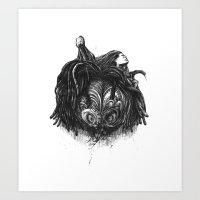 rasta Art Prints featuring Rasta Warrior by MartinLW