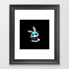 Death Metal Bunny Framed Art Print