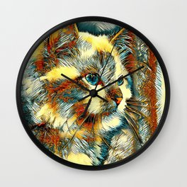 AnimalArt_Cat_20170924_by_JAMColorsSpecial Wall Clock