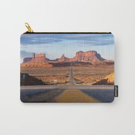 Monument Valley Desert Road Valley Drive Highway Route Arizona-Utah border Photograph Carry-All Pouch