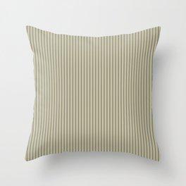 Brown ticking stripes Throw Pillow