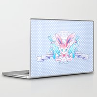 sylveon Laptop & iPad Skins featuring Dragon Slayer: Sylveon by oops