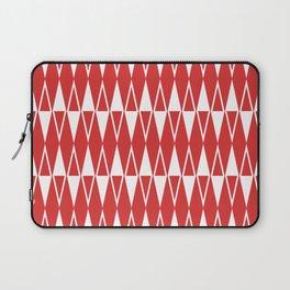 Mid Century Modern Diamond Pattern Red 234 Laptop Sleeve