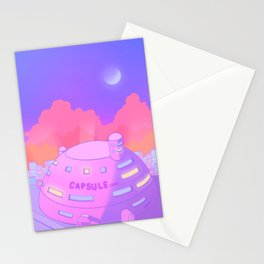 Pastel Capsule Corp Stationery Cards
