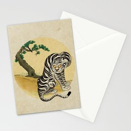 Tiger with magpie type-D : Minhwa-Korean traditional/folk art Stationery Cards