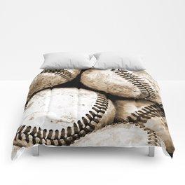 Bucket of baseballs Comforters
