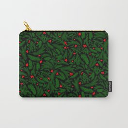 A Piny Kind of Christmas in Pine Green Carry-All Pouch