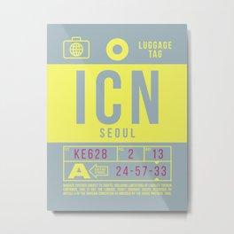 Baggage Tag B - ICN Seoul Korea Metal Print