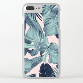 Tropical Summer Jungle Leaves Dream #3 #tropical #decor #art #society6 Clear iPhone Case