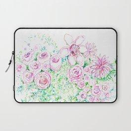 Blue vase of pink flowers Laptop Sleeve