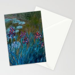 Monet Irises and Water Lilies Stationery Cards