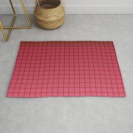 crimson plaid gradient, colorful, bright, red plaid, Ombre plaid Rug