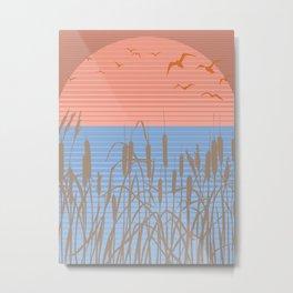 Retro Marsh Metal Print