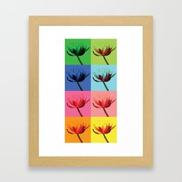Flowers, Warhol Style Framed Art Print