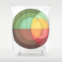 Concentric Circles Forming Equal Areas Shower Curtain