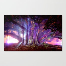 Tree Illuminated Canvas Print
