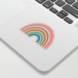 Simple Happy Rainbow Art Sticker