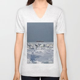 Freighter in the Ice Unisex V-Neck
