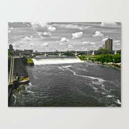 Green to Gray  Canvas Print