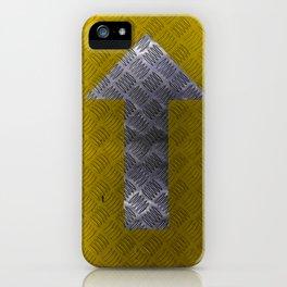 Industrial Arrow Tread Plate - Up iPhone Case