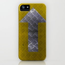 Industrial Arrow Tread Plate - Up iPhone Case