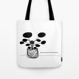 Invest love Tote Bag