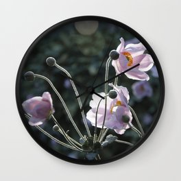 Bokeh Outline Bloom Wall Clock