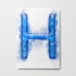 H Letter Metal Print