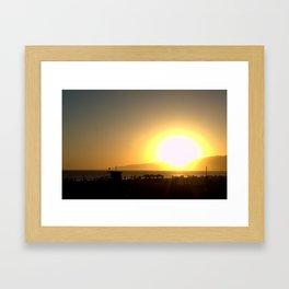 Big Sunset Framed Art Print