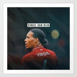 Virgil van Dijk Art Print