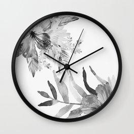 Vintage tropical flowers Wall Clock