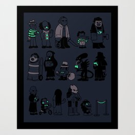 The Horrors of Queuing Art Print