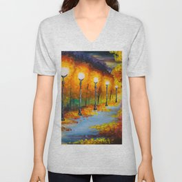 Lights will guide you home Unisex V-Neck