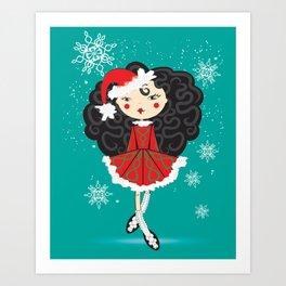 The Reel Santa Art Print