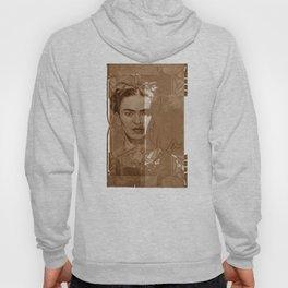 Frida Kahlo - between worlds - sepia Hoody