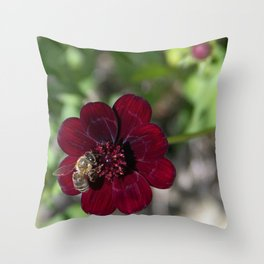 Victorian Bee Throw Pillow