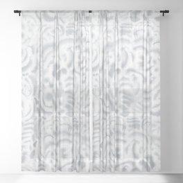 Dye Curves Grey Sheer Curtain