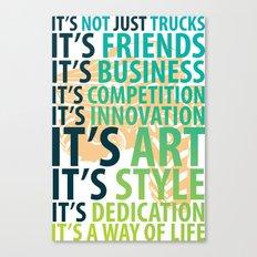 Truckin' Love Canvas Print