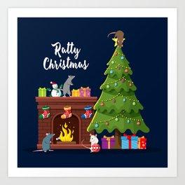 Ratty Christmas Art Print