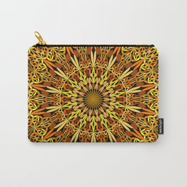 Floral Autumn Garden Mandala Carry-All Pouch