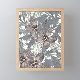 Indigo Florals Framed Mini Art Print
