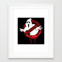 ghost busters Framed Art Prints featuring SCREAM BUSTERS by Henry Quiara