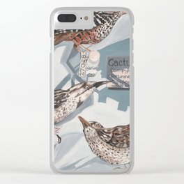 Wren exhibit Clear iPhone Case