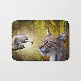 Canadian Lnx and Squirrel Bath Mat