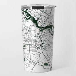 Amsterdam White on Green Street Map Travel Mug