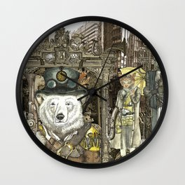Steampunk City Wall Clock