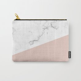 White Marble Pale Dogwood Carry-All Pouch