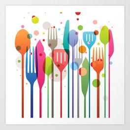 Color Feast Art Print