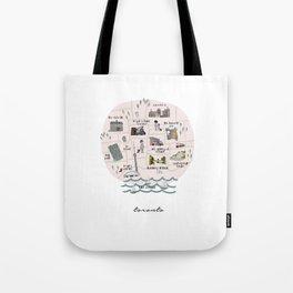 Toronto City Map Tote Bag